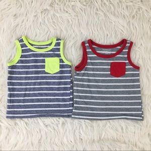 2 toddler boy sleeveless tank tops bundle lot